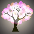 Tree with hearts vector Royalty Free Stock Photos