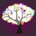 Tree with hearts vector Stock Photography