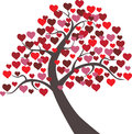 Tree hearts vector floral valentine a with in Stock Images