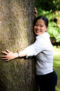 Tree hugger Royalty Free Stock Image
