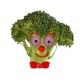 Tree with a human face made ??of fruits and vegetables Royalty Free Stock Photo
