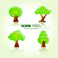Tree icon set Stock Photos