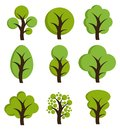 Tree icons, set of trees