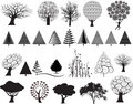Tree illustration set Stock Photography