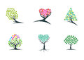 Tree,imagination,logo,dream,plant,icon,green,heart,hope,symbol,and nature hypnotherapy vector design Royalty Free Stock Photo