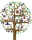 Tree with inhabitants Royalty Free Stock Photo