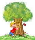 Árbol y niño