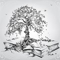 Tree of knowledge. vector illustration Royalty Free Stock Photo
