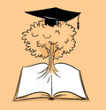 Tree knowledge illustration cartoon tone Royalty Free Stock Photography