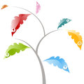 Tree Leaf Options Chart Royalty Free Stock Photo