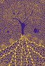 The tree of life. Graphic art symbolic picture. Symbol, metaphor of life and growth. Royalty Free Stock Photo