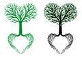 Tree Of Life, Heart Tree, Vector
