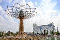 The Tree of Life and the Italian pavilion at EXPO 2015 in Milan, Italy Royalty Free Stock Photo