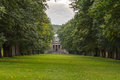 Tree Lined Avenue and Chapel