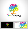 Tree Logo Artistic Brush Royalty Free Stock Photo