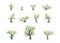 Tree logo concept,set of trees nature wellness symbol icon design vector Royalty Free Stock Photo