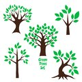 Tree logo concept, set of trees nature wellness symbol icon design vector.