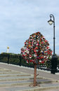 Tree of Love, Luzhkov Bridge, Moscow, Russia Royalty Free Stock Photography