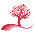 Tree of love vector illustration Royalty Free Stock Image