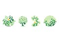 Tree natural logo,green tree ecology illustration symbol icon vector design Royalty Free Stock Photo