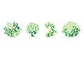 Tree natural logo,green tree ecology illustration symbol icon vector design