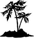 Tree Nature leaf cartoon Vector Clipart Royalty Free Stock Photo