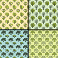 Tree outdoor travel green seamless pattern forest coniferous natural badge tops line spruce vector.