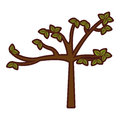 Tree plant autumn icon