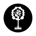 Tree plant ecological icon