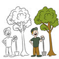 Tree Planting Man Royalty Free Stock Photo
