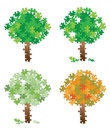 Tree puzzle set Royalty Free Stock Photography