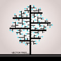 The Tree Of Rectangles Royalty Free Stock Photography