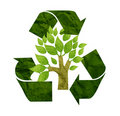 Tree recycled paper Royalty Free Stock Photo