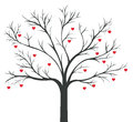 Tree of red Hearts hanging