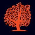 Tree with ripe apples harvest season theme illustration fruitf fruitfulness and fertility idea symbolic image Royalty Free Stock Image