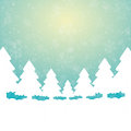 Tree snow stars green white background Royalty Free Stock Photography