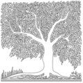 Tree in square shape Royalty Free Stock Photo