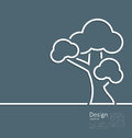 Tree standing alone symbol design webpage logo template illustration corporate style layout Stock Image