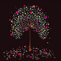 Tree summer. Vector. Royalty Free Stock Images