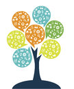 Tree technology entertainment design over white background vector illustration Stock Photography