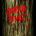 Tree trunk: game over Royalty Free Stock Image