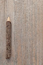 Tree trunk pencils on wooden table close up of background Stock Photos