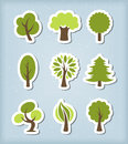 Tree vector icons editable set Royalty Free Stock Photography