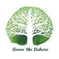 Tree vector logo. Ecology, nature symbol. Environment icon
