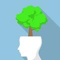 Tree on white head