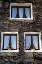 Tree windows in Le Hourdel Royalty Free Stock Photo