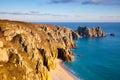 Treen Cliffs Stock Photo