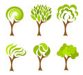 Trees collection Royalty Free Stock Photo