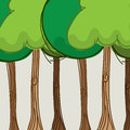 Trees design over beige background vector illustration Royalty Free Stock Image