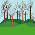 Trees design over landscape background illustration Royalty Free Stock Photos